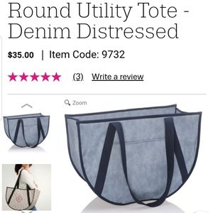 Round utility tote by Thirty-One